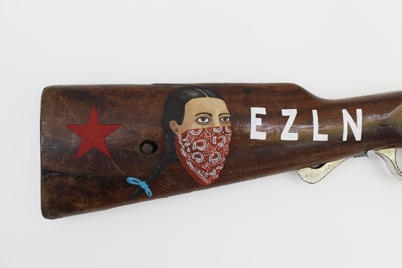 EZLN Oljefärg på trägravyr