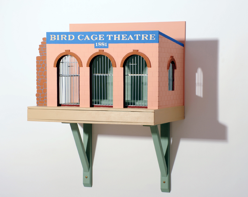 Bird cage Theatre 2 B 60 H 75 D 41 cm blandteknik